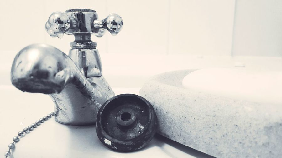 Taking Photos Light And Shadow EyeEm Best Shots - Black + White Early Morning Eyemphotography Black And White Photography Close Up Close-up Showcase: January Blackandwhite Tap Water Bathroom Sink Bathroom Pics Sink Plug Plug Soap Soap Dish