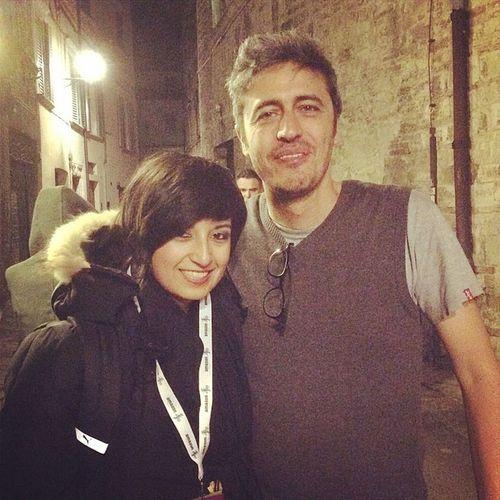 con @Pif_iltestimone Ijf14 Perugia Mitico bellissima serata insieme a Lirio Abbate :: teatro Morlacchi :: 04/05/2014