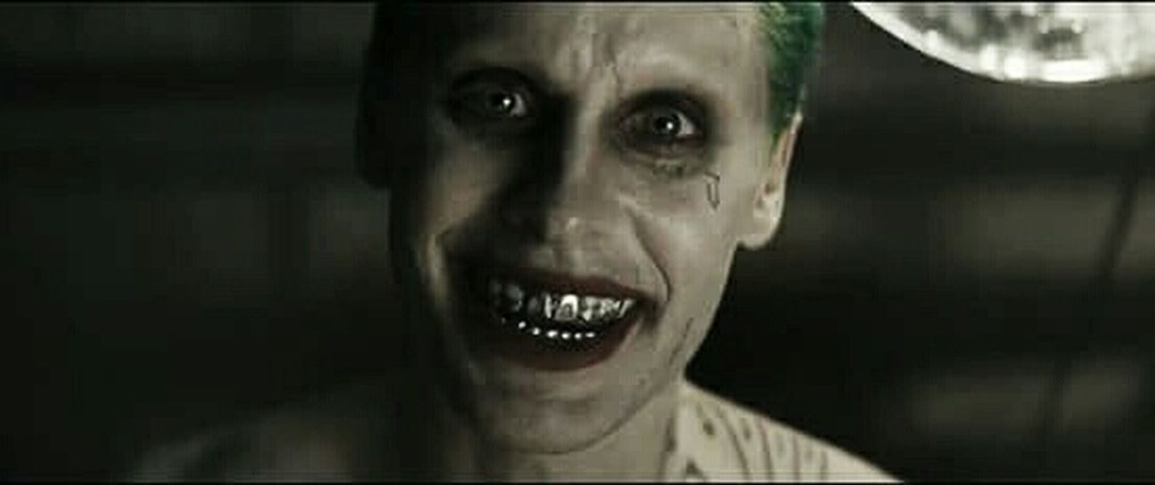 """I'm not going to kill you...I'm just going to hurt you really...really...BAD"" Joker SuicideSquad Warnerbros"
