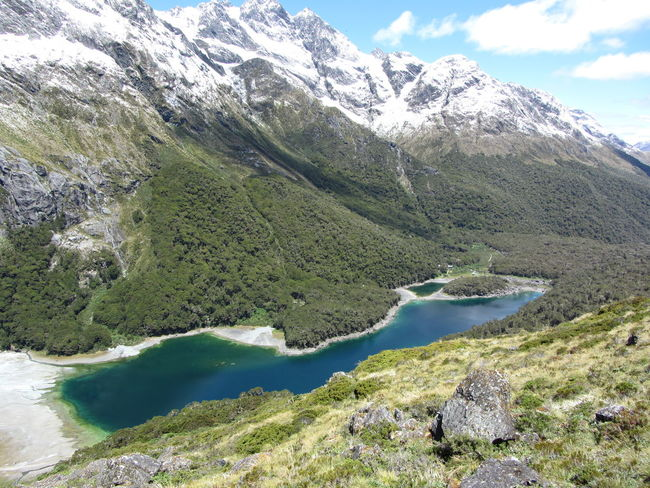 Beauty In Nature Cold Temperature Day Lake Mckenzie Landscape Mountain Mountain Range Nature New Zealand No People Outdoors Routeburn Track Scenics Sky Snow Tranquil Scene Tranquility Water