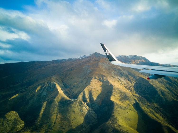 NZ NZ South Island New Zealand Landscape Wing Aerospace Industry Air Travel  Air Vehicle Aircraft Wing Airline Airnewzealand Airplane Beauty In Nature Cloud - Sky Environment Flying Landscape Mode Of Transportation Mountain Peak Mountain Range New Zealand Outdoors Scenics - Nature Tranquil Scene
