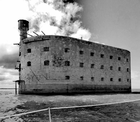 Fort Boyard Built Structure Building Exterior Architecture Sky Black & White Blackandwhite Photography Black And White Collection  Your Ticket To Europe