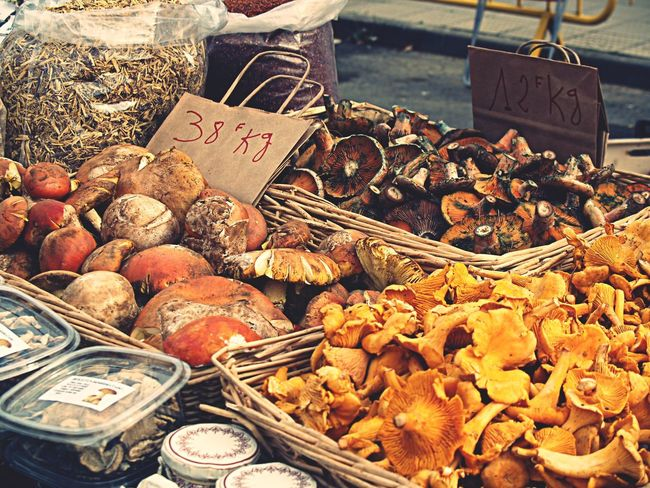 Mushrooms Setas Food Market Walking Around