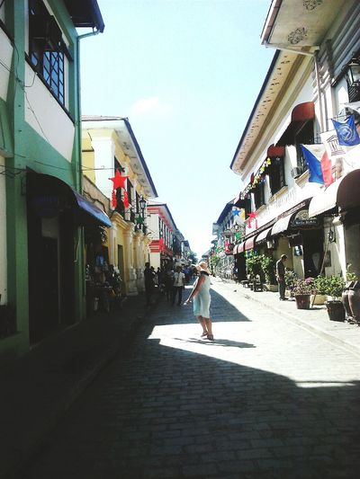 Calle Crisologo Architecture Building Exterior Sky Outdoors People IlocosDiaries Tranquility
