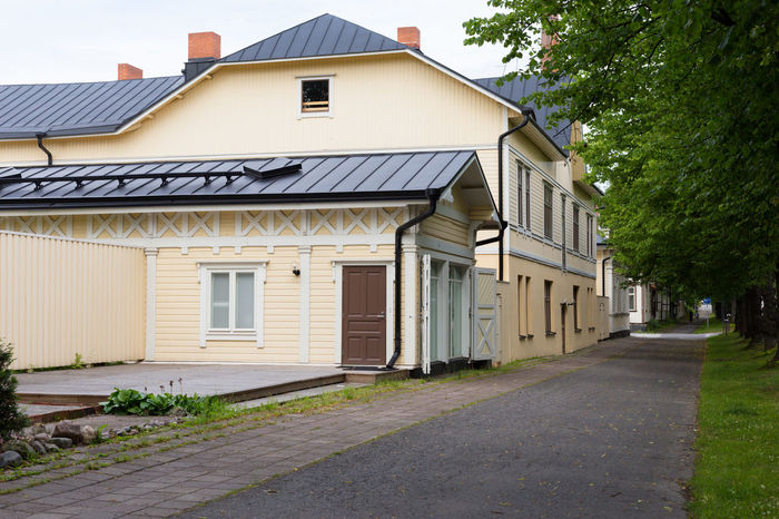 Traditional house in Finland Architecture Building Building Exterior Cottage Day Eavening Europe Finland Helsinki Home House No People Nordic Old Old Buildings Outdoors Summer Traditional Travel Turku Turku In Finland Village Wood Wooden Yellow