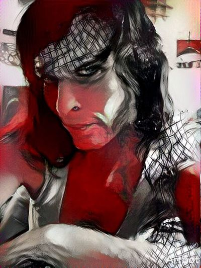 One Person One Woman Only Looking At Camera Nico! Hi! Artbot Colorsplash Redgrey