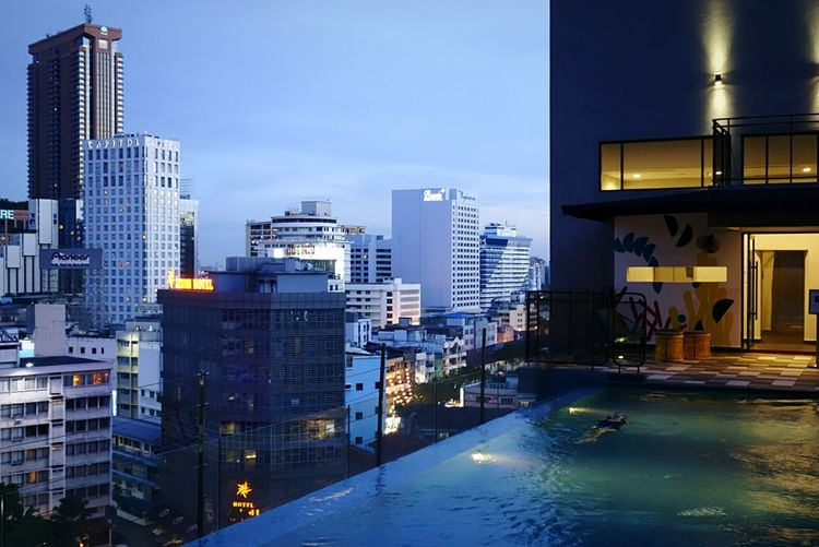 I love this place Infinity Pool Skyline Boutique Hotel Hidden Gems  Travel Photography Blue Hour Nightphotography Swimming Eye4photography  Tadaa Community Shootermag Unwind Feel The Journey Original Experiences