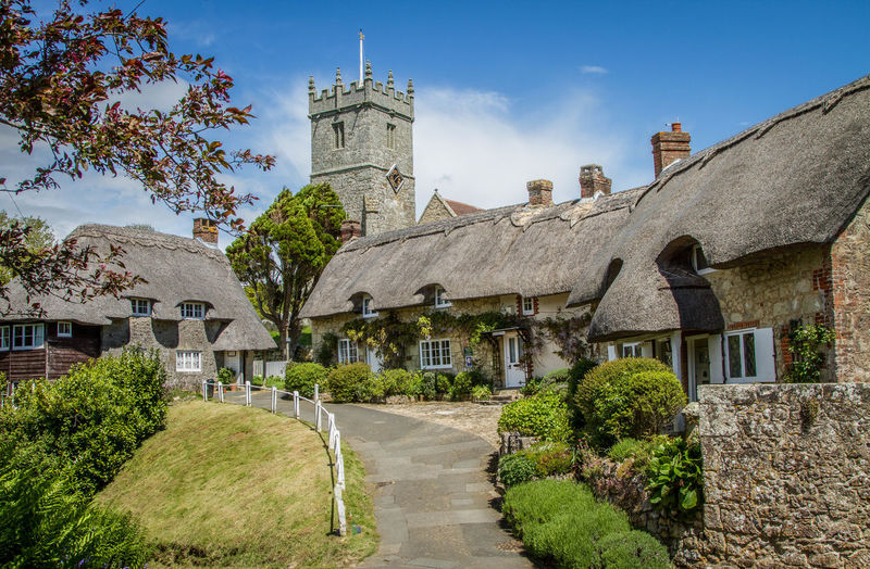 picture postcard setting Built Structure Godshill Isle Of Wight  Postcard Thatched Cottage Thatched House Thatched Roof Village First Eyeem Photo