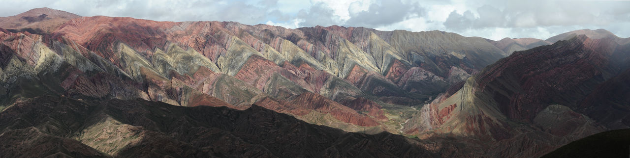 Andes Argentina Arid Climate Beauty In Nature Day Geology Hornocal Humahuaca Landscape Mountain Mountain Range Nature No People Outdoors Panoramic Physical Geography Rock - Object Rock Face Rock Formation Rough Scenics Sky Tranquility Travel Destinations