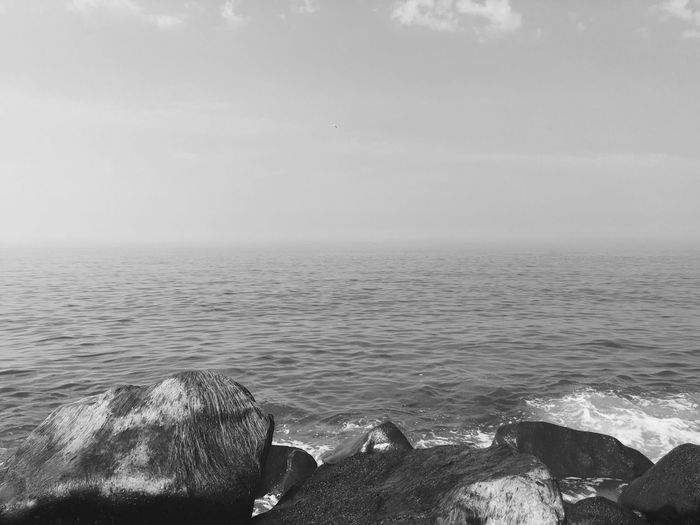 clear... Sea Water Tranquil Scene Rock - Object Horizon Over Water Outdoors EyeEmNewHere