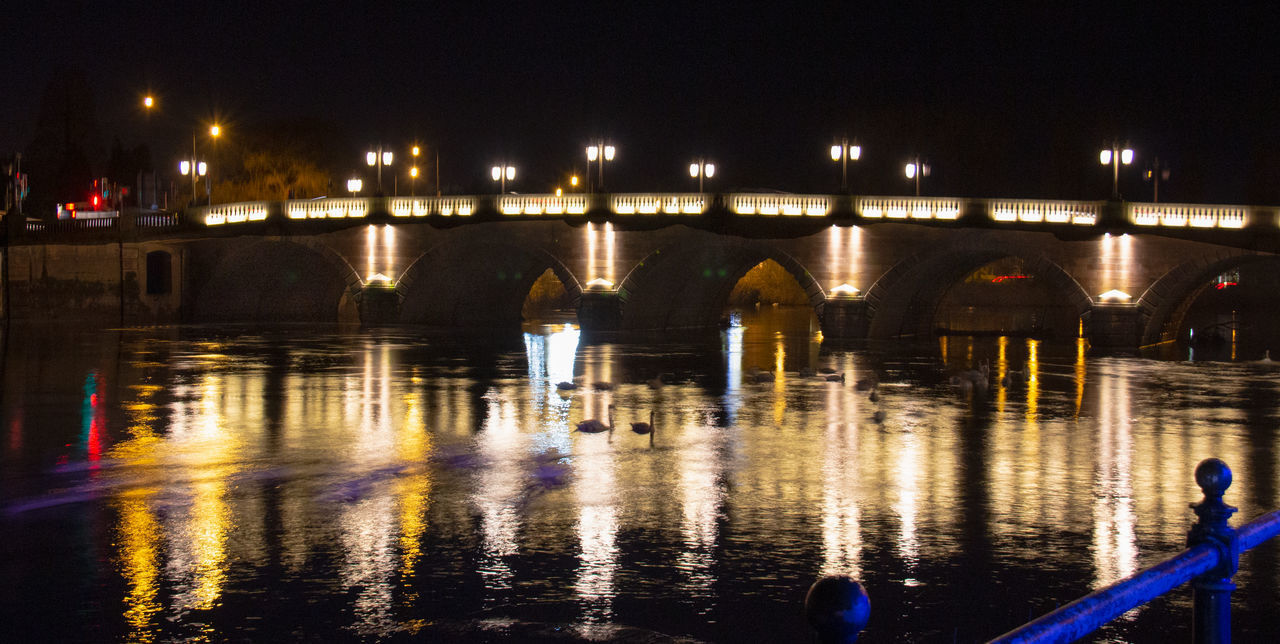 water, architecture, illuminated, night, reflection, built structure, waterfront, bridge, transportation, river, connection, bridge - man made structure, city, no people, nature, building exterior, sky, outdoors, arch, arch bridge