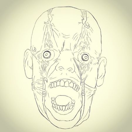 Drawing Scary April Fool  victim sketch face pain ugly aprilfools soon art painting