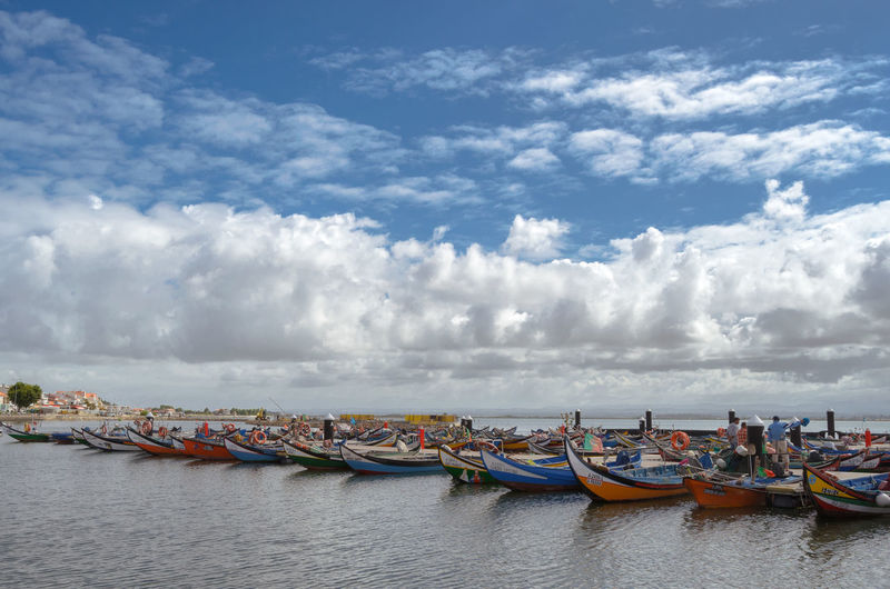 Portugal Beauty In Nature Cloud - Sky Day Horizon Over Water Nature Nautical Vessel Outdoors Real People Scenics Sea Sky Torreira Transportation Water