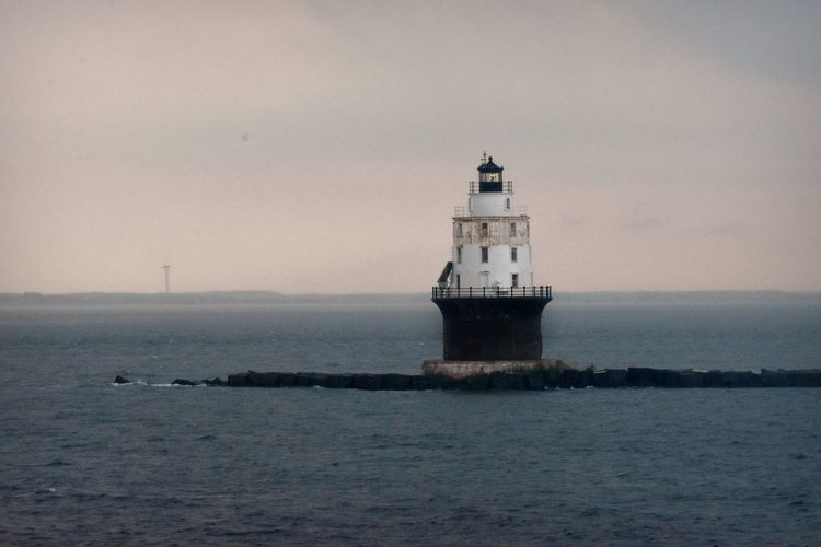 Delaware Delaware Bay Harbor Of Refuge Light Lewes Architecture Built Structure Lighthouse No People Ocean Water