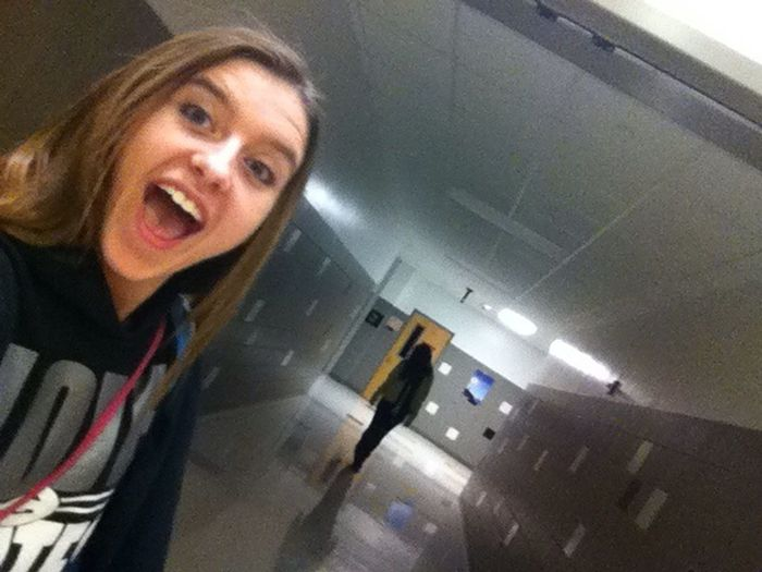 Lol this is so creepy jazmine took the photo and that's me in the background