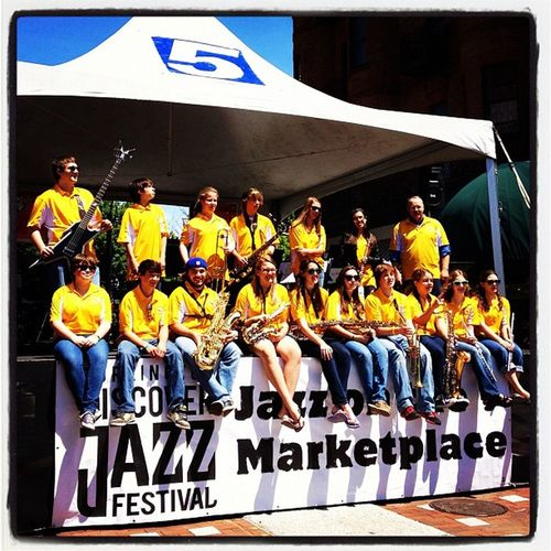 Milton High School Jazz Band at #BTV Jazz Festival 2012. #vt bdjf Mhs  Instagood Band Jazzfest IPhoneography Instagallery Festival Vt Downtown Btv Music 802 Jazz Miltonvt 365 Vt_scene Photooftheday Vermont_scene Highschool Photoifday Burlington High_school Show Jazzband Instamood Church_street Musical PhotoADay