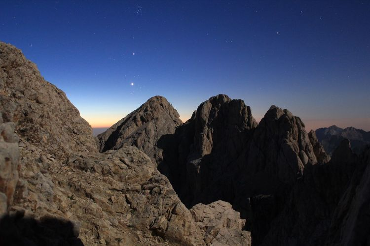 Dawn on Gran Sasso, Italy Italy Summer Night Climbing Star - Space Astronomy Space Sky Scenics - Nature Night Star Beauty In Nature Star Field Nature Mountain Tranquility Galaxy Tranquil Scene Mountain Range Constellation Rock No People Solid