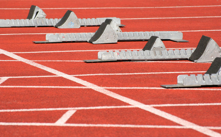 Track and field Outdoor Activity Sports Sports Photography Sprint Starting Blocks Tartan Track Track Track And Field Genuine Brazil Images The Color Of Sport