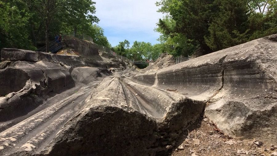 Kelleys Island Glacial Grooves Nature Rock - Object Beauty In Nature Day Landscape