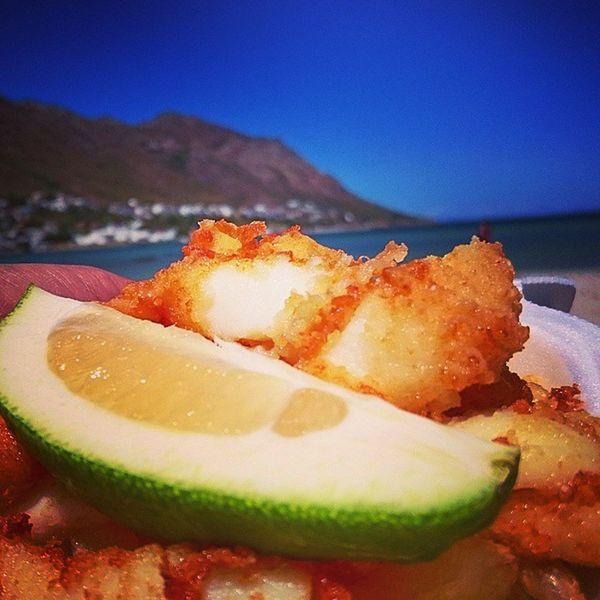 calamari & chips...Gordonsbay Ilovecapetown Southafrica Sundaydrive home from BettysBay