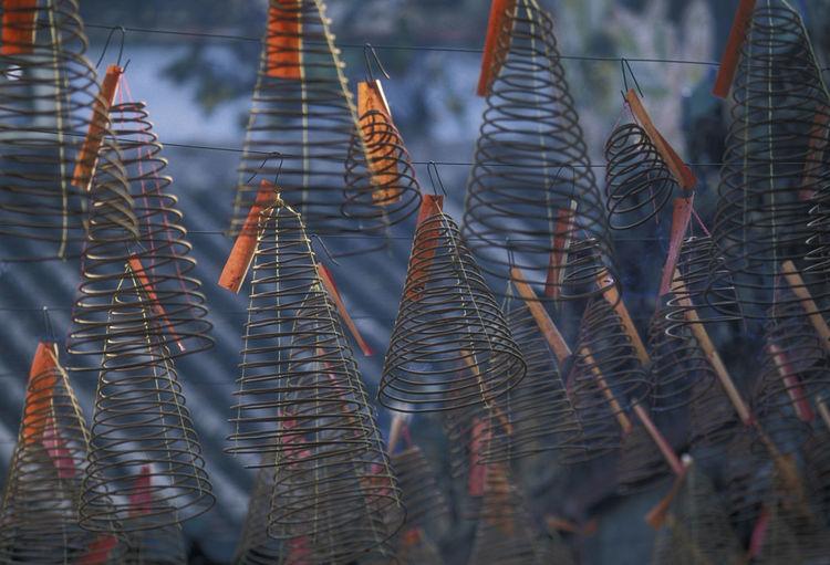 Full Frame Shot Of Spiral Incenses