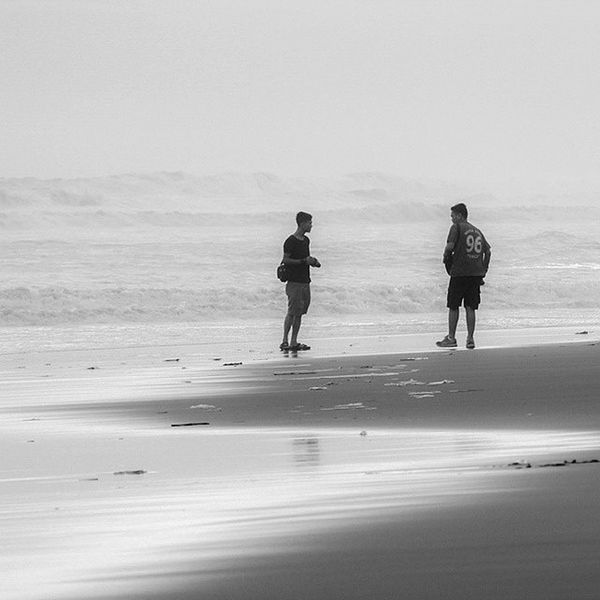Don't look back, face the world man! Bw FFC Blackandwhite Black And White Black And White Photography Nikon Nikon_photography_ Pantai Beach Beachvellers Pantai_depok Depok Jogjakarta Explorejogja