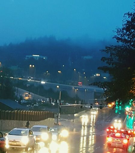 Fall morning commute in Bellevue. Deluge Wetfeet Fall Northbellevue Rain Rainy Days Beauty In Nature Cityscapes TCPM