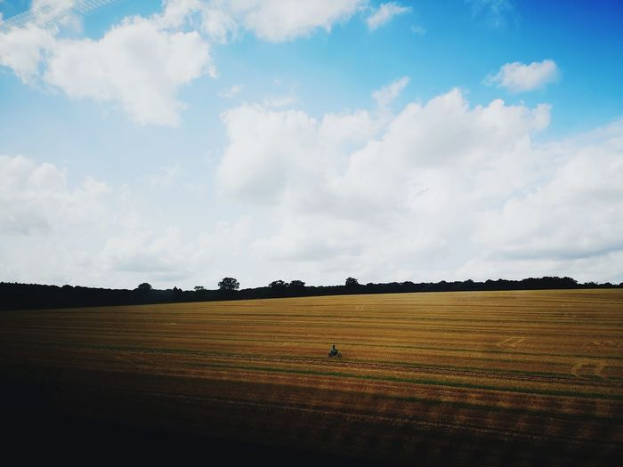 From train Stevenage Overground Train Motorcycle Motorcyclist Kid Kids Being Kids Farm Boy Fun Fields Working Rural Scene Cereal Plant Agriculture Farmer Field Crop  Farm