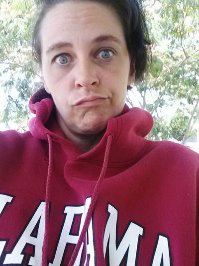 It's like 95 degrees and I'm wearing a pull over. Wierdeyes Wierdface Wierd Tree Wierdo That's Me Roll Tide