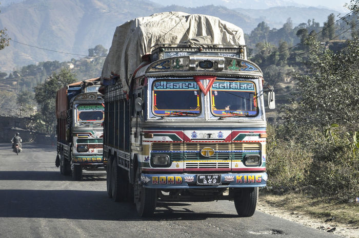 Day Himalayas Mountain Mountain Range My Year My View Nepal Nepal TravelNo People Outdoors Transportation Transportation Vehicle Travel Travel Photography Truck Vehicles Finding New Frontiers
