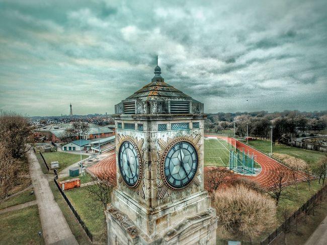 Blackpool Aerial View Dji Phantom Quadcopter Stanleypark  Clock Clock Tower