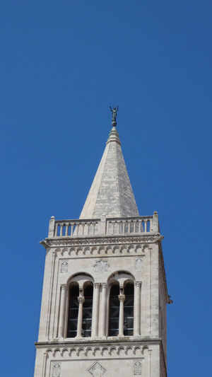 Croatia EyeEm Best Shots Lookout Scenic Travel Architecture Bell Tower Blue Bluesky Building Exterior Built Structure Clear Sky Day History Hrvatska Low Angle View Nature No People Old Buildings Places You Must To See Sky Spire  Tall - High Tower Vacation Destination