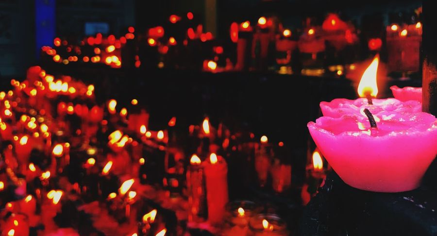Candle Flame Burning Fire - Natural Phenomenon Heat - Temperature Illuminated Glowing