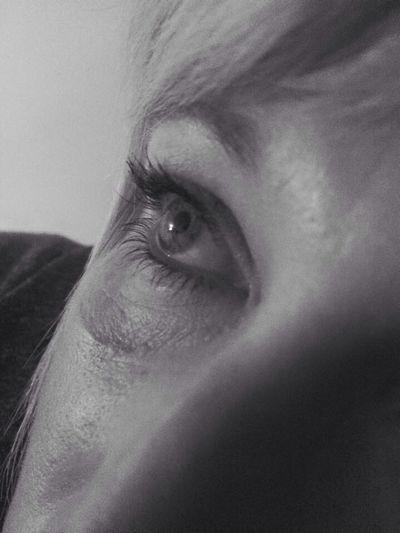 Eye Eyes Eye For Photography Black And White Photography Black & White Black And White Face Part Of Part Of Face Hair FaceShot Eyeseeyou Eye To Eye Female Female Model Eyelashes Eyelash Headshot Closeup Cropped Human Eye