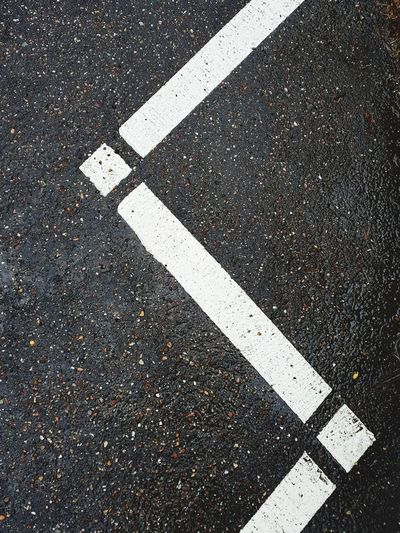 Asphalt strips Road Marking Communication Asphalt High Angle View Guidance Paint Street Full Frame White Color