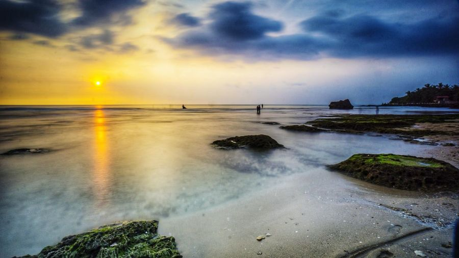Sunset in Karang Suraga beach in Banten coastline Portfolio Of Arif Wibowo Portfolio Of Jgawibowo Photography By Jgawibowo Twilight Clouds And Sky Sunset_collection Seaweed Reflection Sunset Sunset Silhouettes Sunset And Clouds  Coastline Coastline Landscape Banten INDONESIA Indonesia_photography Vacation Holiday Water Sea Wave Sunset Beach Sand Dramatic Sky Sky Horizon Over Water Landscape Coast Romantic Sky
