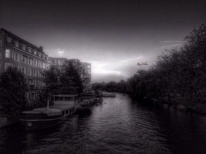 Amsterdam Black & White Water Traveling