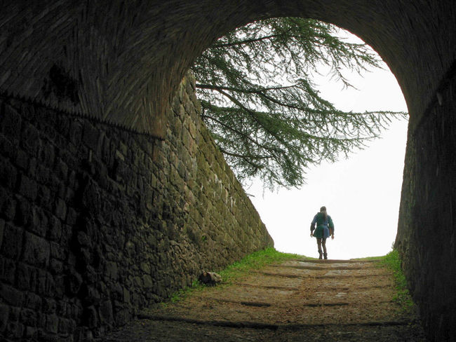 Castle Walls Escape From Reality Fairytale  Man Walking From Behind Out Of The Darkness Rear View Solitude The Way Forward The Way Out Finding New Frontiers Mix Yourself A Good Time Be. Ready.