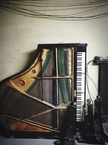 Forgotten beauty Neglected Piano Abandoned Bad Condition Damaged Run-down Broken Ruined Obsolete Rusty Peeling Off