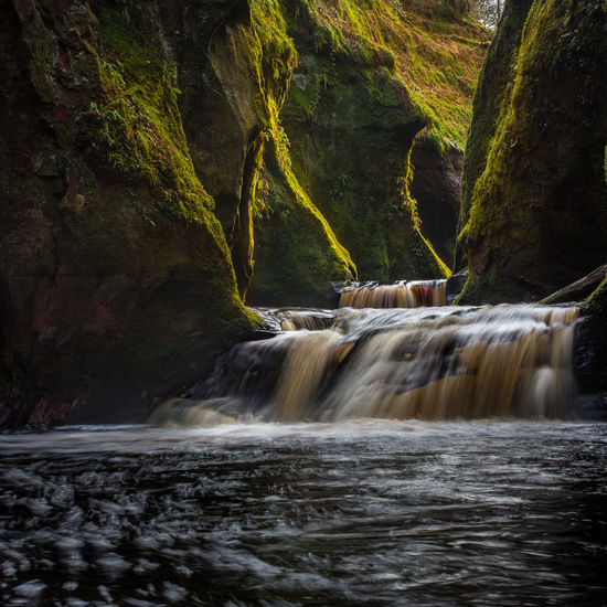 The entrance to the Devil's Pulpit Scotland Wanderlust Mystery Forest Exploration Glen Finnich Glen Devils Pulpit Moss Canyon Crevace EyeEm Selects Glasgow  Sunset River Red Sandstone Scotlandsbeauty Water Waterfall Tree Motion Long Exposure Flowing Water Rapid Power In Nature Rushing Force Crashing Flowing Stream Stream - Flowing Water Reservoir