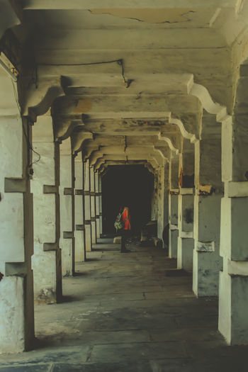 loneliness Alone Arch Architectural Column Architecture Architecture Built Structure Contemporary Day Harmony India Indoors  Loneliness Mysore, India No People Photography The Way Forward
