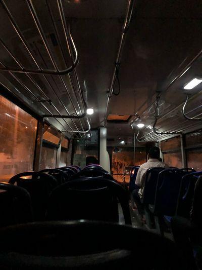 Local Bus Bus Illuminated Lighting Equipment Indoors  Mode Of Transportation Night Transportation Sitting Light Vehicle Interior Land Vehicle Public Transportation Seat