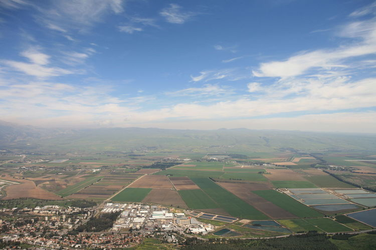 Amazing Landscapes of Israel, Views of the Holy Land Environment Landscape Sky Beauty In Nature Scenics - Nature Cloud - Sky Nature Aerial View Patchwork Landscape Rural Scene Tranquil Scene Field Day Agriculture Tranquility Land No People Outdoors Farm Idyllic