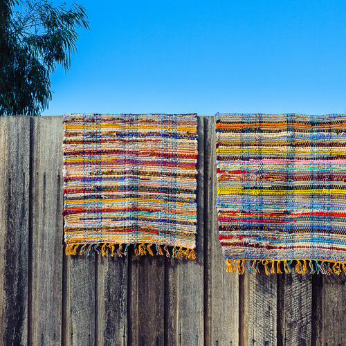 Day Fence In A Row Multi Colored Outdoors Repetition Rug Sky Wood - Material Wooden Fence The Essence Of Summer
