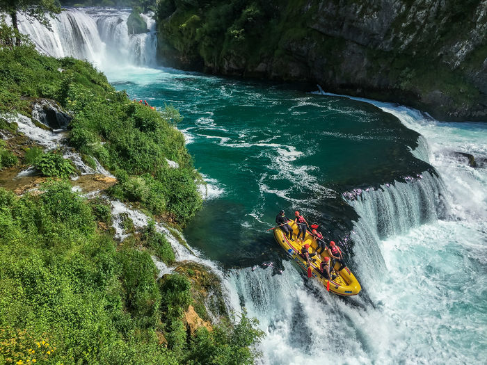 Beauty In Nature Blue Bosnia Flowing Water Nature Outdoors Power In Nature Rafting Travel Photography Traveling Una Water Waterfall Www.gonetosee.de