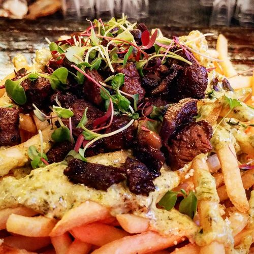 Foodie French Fries Skirt Steak Meat Food And Drink Close-up Freshness Food