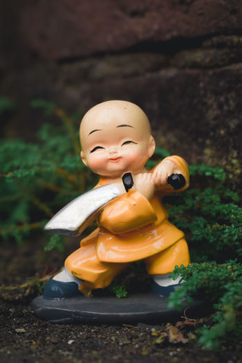 Close-up of toy statue