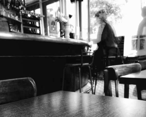Another coffee time Troquet Parisien Getting Creative Long Exposure IPhoneography Fortheloveofblackandwhite