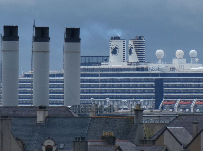Liner in Stornoway Visit Scotland Cruise Ship Stornoway Outer Hebrides Scotland Architecture Built Structure Building Exterior City Building Sky Water Cityscape No People Nature Modern Outdoors Tower Residential District Travel Destinations