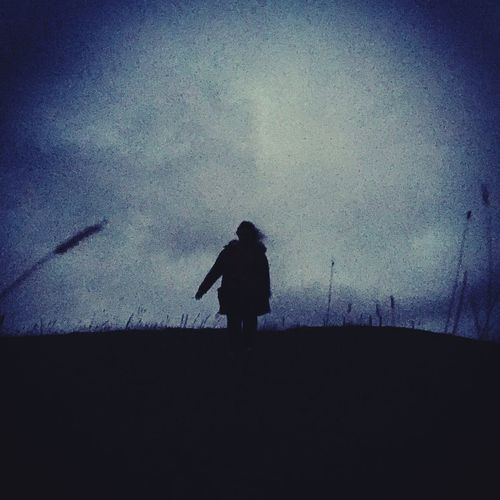 Silhouette Real People One Person Sky Standing Outline Outdoors Men Nature Night One Man Only People EyeEm Selects If Trees Could Speak Your Ticket To Europe The Week On EyeEm EyeEmNewHere Lost In The Landscape